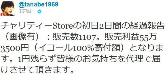 田辺誠一が描いた「カッコイイ犬」チャリティグッズ、なんと2日間で55万円超え!