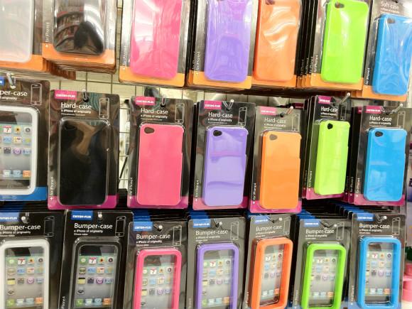100円ショップでiPhone用ケースがたくさん売ってるよ!オシャレな女子は要チェックざますよ!