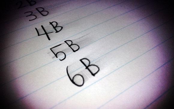 鉛筆女子必見! 「手が汚れる鉛筆の濃さはどのくらい?」を調査してみました