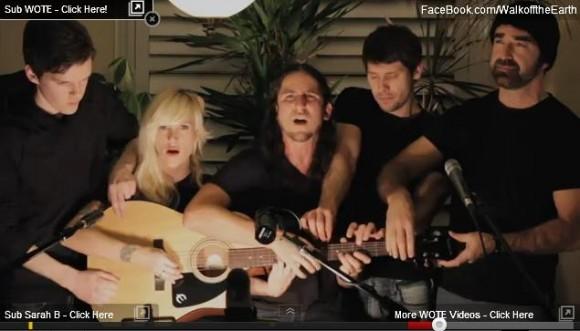 1本のギターを5人で奏でるバンドの演奏が完成度高すぎてスゴイ!