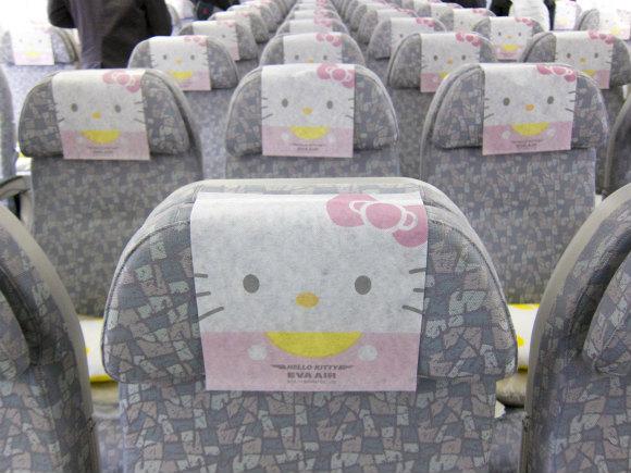 思わず胸キュ~ン!!  エバー航空の「ハローキティジェット」に乗ってみたよ/ 機内食もトイレもキティちゃん尽くしだぞ