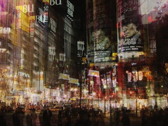 まさにカオス! 輪郭が幾重にも重なった日本の都市風景写真がオモシロイ
