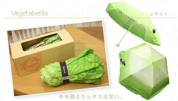 うわあ、本物の野菜みたい! 八百屋で売っても違和感なさげな「レタス風」傘!