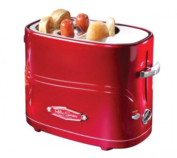 普通のトースターじゃ物足りないというあなたへ…ソーセージまで焼いてくれるレトロポップなホットドッグトースター