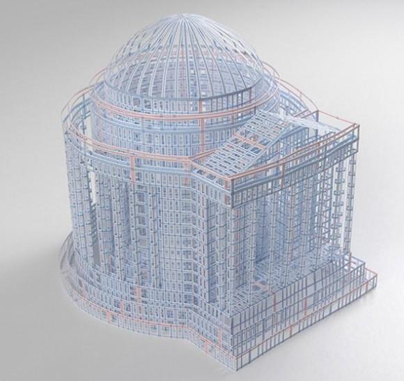 なんじゃこの繊細さはっ! 美しすぎる建築模型ですが、さて一体何でできているでしょうか?