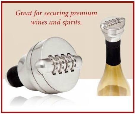 あなたの大切なボトルを守る心強い味方! お酒のフタをロックできちゃうカギ付きストッパー