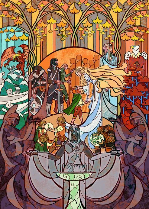 『指輪物語』の幻想的な世界を表現したステンドグラスが壮大で美しすぎる