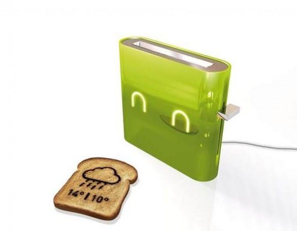トーストを見れば、その日の天気予報がわかっちゃう! 画期的すぎるトースター『Jamy Toaster』
