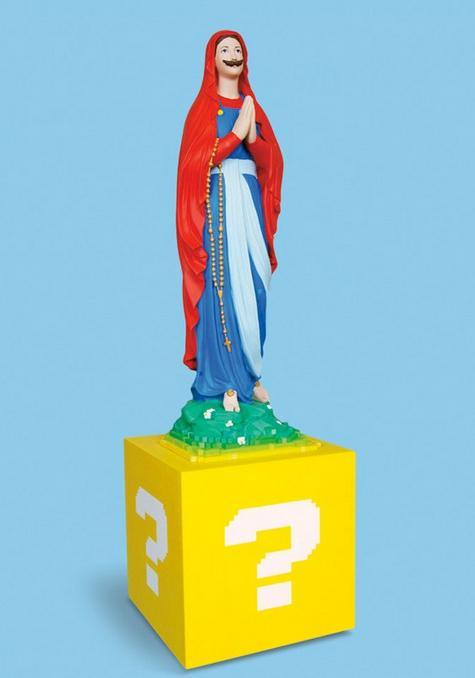 キティちゃんにマリオ、セーラームーンまで!? 若者文化を積極的にとりいれるコスプレ「マリア像」現る!