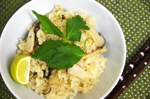 エリンギでなんちゃって「松茸ごはん」を作ってみたら、見た目も風味も本物に近くなった! この作り方なら十分に松茸風味が楽しめてオススメだよ♪