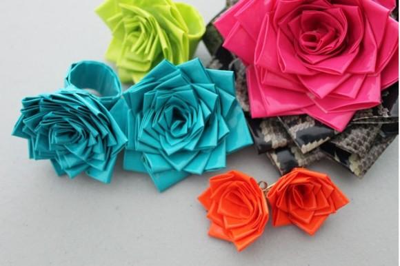 【簡単DIY】ダクトテープで作るとびきりカワイイ薔薇アクセ♪