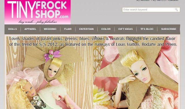 バービー人形をもっとおしゃれに変身させよ♪ ハイファッションなアイテムが揃う、ドール専門のオンラインショップを発見