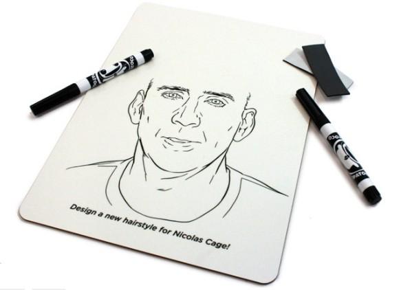 【誰得】ニコラス・ケイジの髪の毛を自由自在に描けるホワイトボードが新発売!
