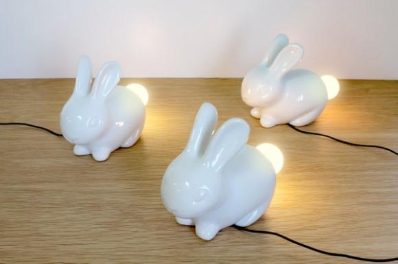 お部屋に1匹いかが? シッポが光るウサギちゃん型LEDランプが問答無用にかわいいの!!