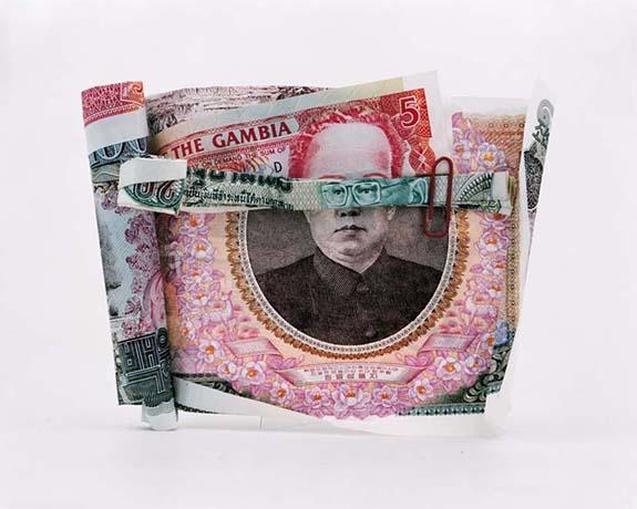 世界各国のお札を組み合わせてできた、寄せ集め「お札折り紙」の肖像画がなんかスゲエェ!!