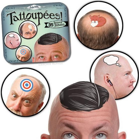 つるピカ頭もこうすれば可愛くなる!? 珍商品、頭専用タトゥーシールを発見ッ!