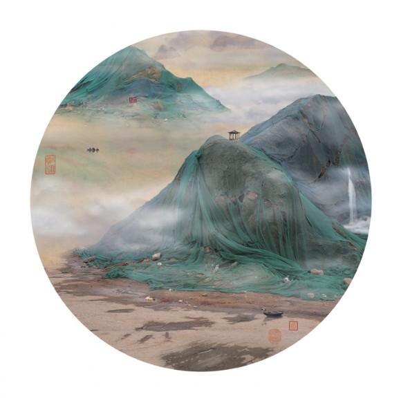 一見山水画、でもよ~く見るとただのゴミ!? 現代の中国ゴミ事情を風刺したデジタル加工絵画が超絶クール!