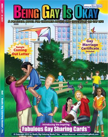子どもにもゲイの一生がよ~く分かる! 『ゲイになってもいいんだよ』というタイトルの塗り絵が新発売