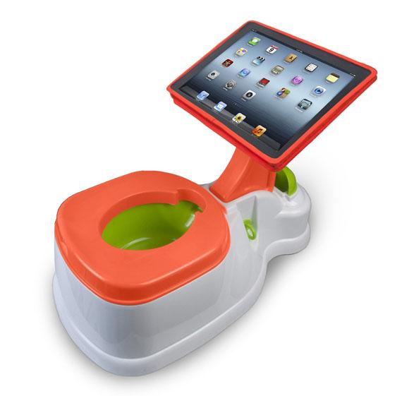 """とうとう""""おまる"""" もココまできちゃったか……誰もが目を疑う「iPad付きハイテクおまる」が登場!"""