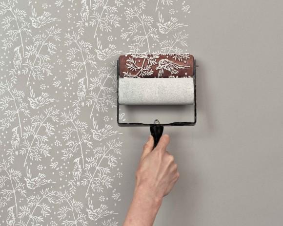 自宅の壁にかわいい模様をペイントできちゃう! 模様付きペンキローラー『Paint Roller Kit』