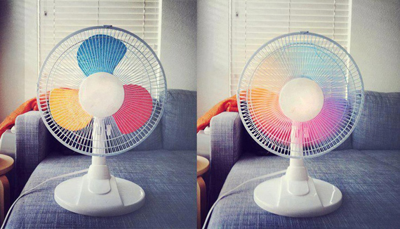 本格的な夏がやってくる前にレッツトライ! カラフルキュートなレインボー扇風機を作ってみよう!