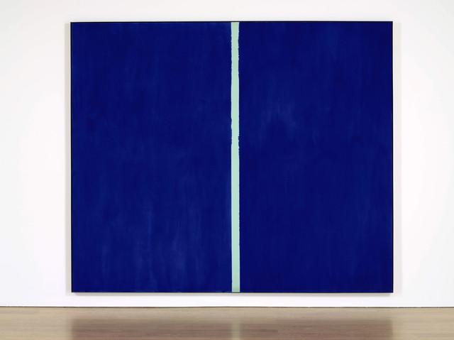 オークションで落札された約44億円の絵画が超シンプル/真っ青なキャンバスに白い線が1本