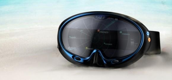 近い将来、ダイバーたちの必需品になる可能性大! グーグル機能が搭載された水泳用ゴーグル『Smart Swimming Goggles』