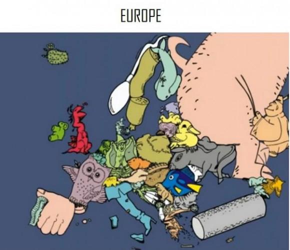 ヨーロッパ各国をいろんなもので表現したらこうなった!