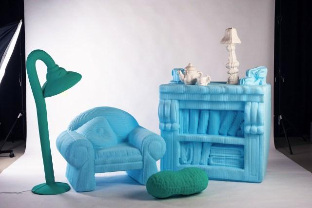 憧れのドールハウスが現実に!? ミニチュア家具を3Dプリンタで実物大に