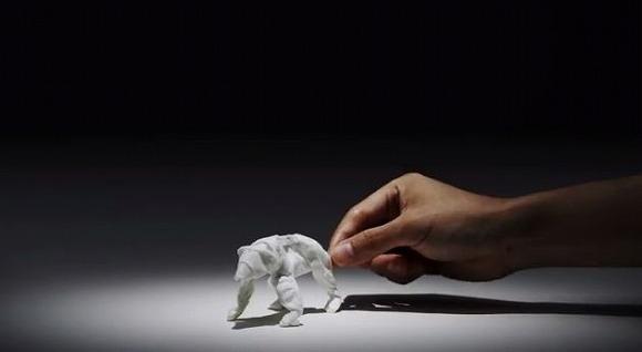 1枚のティッシュがさまざまなものに変化する / ネピアの「ティシュ・クラフト・アート」動画がスゴイ!!!