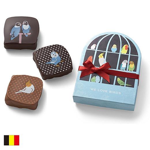 これは男子にあげてる場合じゃない! 鳥かご風BOXに入った「インコチョコ」は自分用決定のかわいさなのであります♪