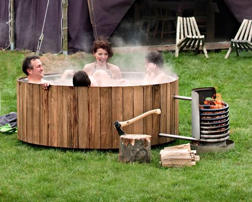 木のぬくもりと手作り感がたまら~ん! オランダ版五右衛門風呂『Wood Dutchtub』で雪見風呂を楽しもう♪