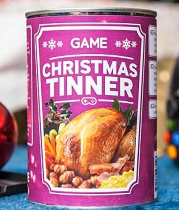 クリスマスだってずーっとゲームしていたい! ゲーマー用クリスマスディナー缶詰が登場