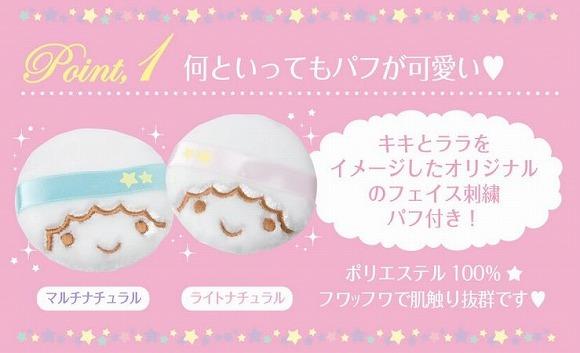 キキララちゃんのかたちのパフに悶絶しちゃいます♪ きゃわわなキキララコラボのフェイスパウダーが新発売だぞぉ~!!!