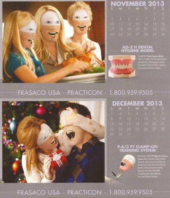 こんなカレンダー使いたくない!! 歯科用器具を販売している会社のカレンダーがホラー並に怖いと話題に