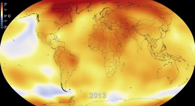 これを見れば一目瞭然!! 60年間の地球温暖化の様子がよーくわかる動画