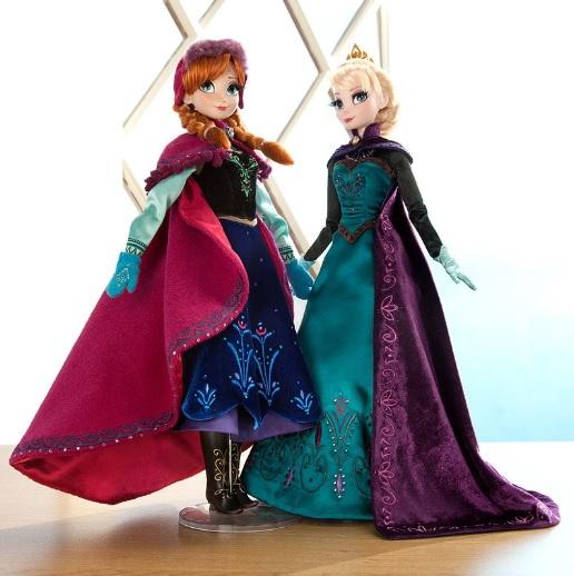 ディズニー映画『アナと雪の女王』アナとエルサの限定版ドール! エレガントでゴージャスで、その美しさにうっとり♪