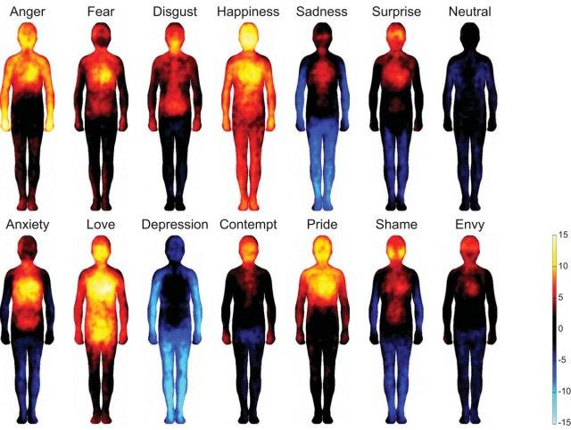 幸せなときは全身真っ赤に、落ち込んでいるときは真っ青に! 気持ちの変化と共に体温も著しく変化していることが判明