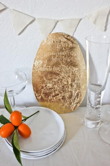 休日のブランチをスペシャルに演出♪ ころんとした卵型が可愛いゴールドメニューパネルをレッツDIY!