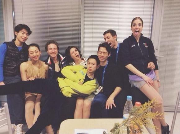 「ヘン顔」以外も!! ソチ五輪フィギュアスケート選手たちの仲睦まじい集合写真 / Twitterユーザーの声「こういう交流あってのオリンピック」