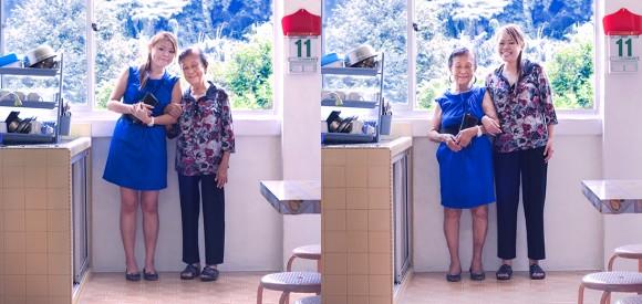 ビックリするほど違和感ゼロ! 洋服を上から下まで交換し合った「祖父母と孫」写真