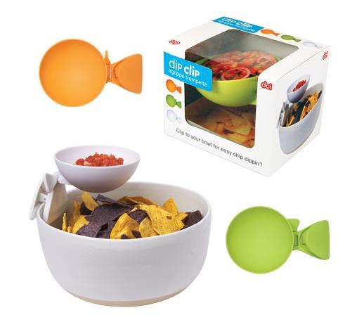 【アイディアグッズ】お皿やボウルにクリップ!! ディップやソースを手軽に添えられるプラスチック製小皿