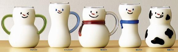 【かわいい】雪印メグミルクを飲んだら当たる「雪マグ・グラス」がめちゃ欲しい / 牛乳を注ぐと雪だるまに変身するガラス製のマグカップ♪