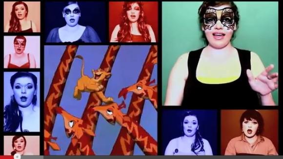 【鳥肌モノ】ハモリもすべてひとり!! 20人以上のディズニー・キャラになりきってディズニー・メドレーを歌う女性のアカペラ動画