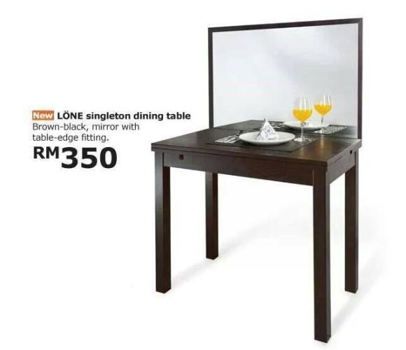 【朗報】もうこれで寂しくない! 一人でいてもまるで二人で食事しているかのような気分になれるダイニングテーブルをIKEAで発見!!
