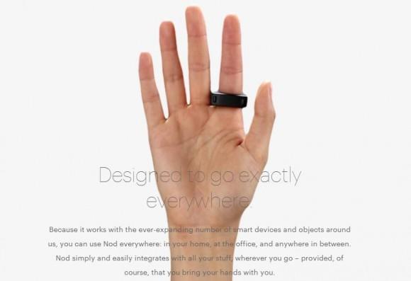 気分は魔法使いか、はたまたエスパーか……スマホやPC、家電を操作できる指輪「Nod」がスンゴく未来!