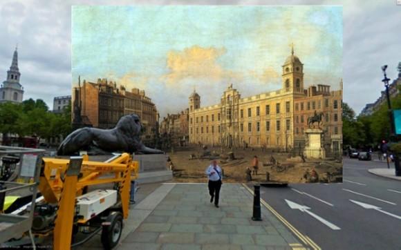 昔と今を時間旅行! ロンドンのGoogleストリートビュー画像に18・19世紀に描かれた風景画の同じ場所を重ね合わせてみたら…!?