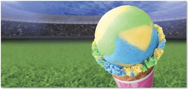 【6月1日発売】緑・黄・青のブラジル国旗カラー! サーティーワンの期間限定「トリオ デ ジャネイロ」を食べてワールドカップに挑むのじゃ!