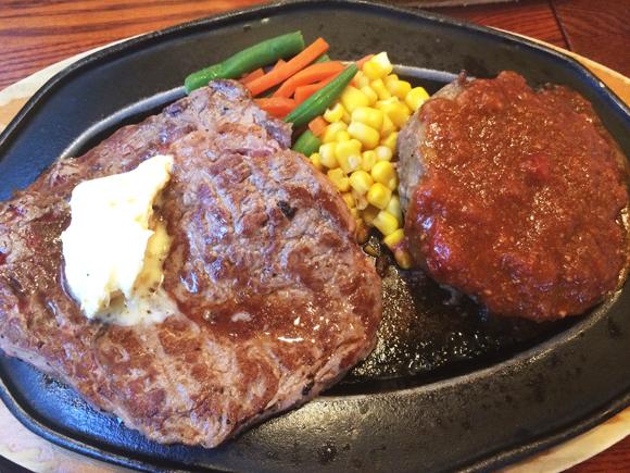 【やっぱり肉が食べたいですッ!】大自然のなかで育ったニュージーランド牛の「ステーキ&ハンバーグのセット」が1180円!? 衝撃コスパを誇る「紅矢」へ行ってみた!