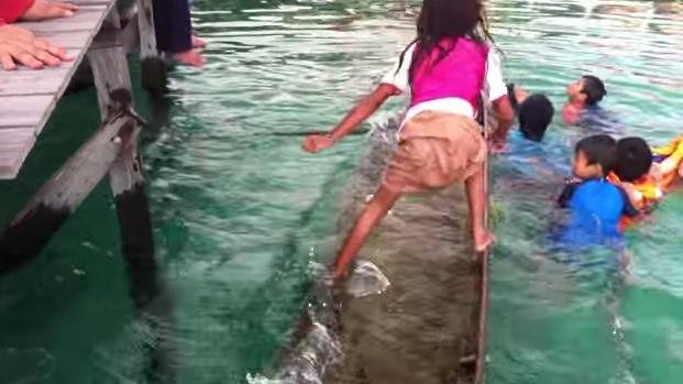 【本日の絶景動画】こりゃあ、たまげた! 沈みかけた舟を足で左右に揺らして水をかき出す少女